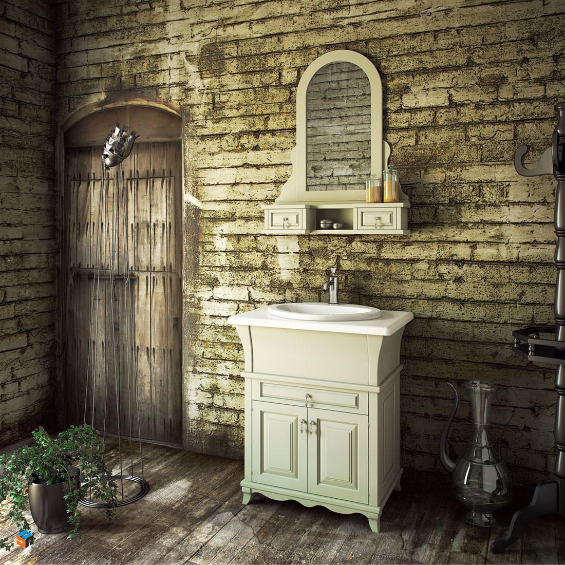 vintage έπιπλο μπάνιου