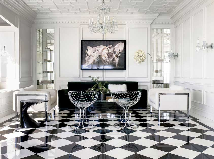 blackwhite floor central