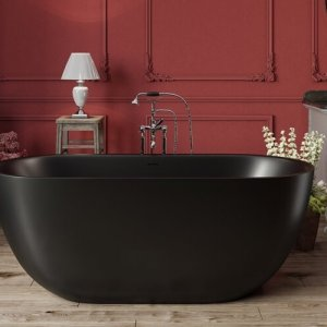 Corelia Black Freestanding Stone Bathtub 1 web