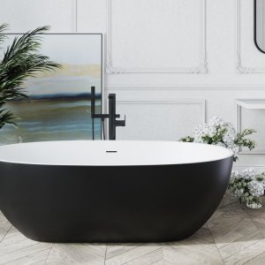 corelia black wht freestanding solid surface bathtub 01 web