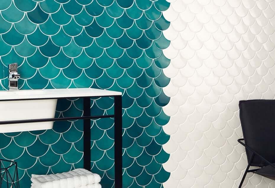 μπλε mermaid tiles πλακακια