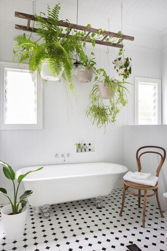 Διακόσμιση μπάνιου με φυτά