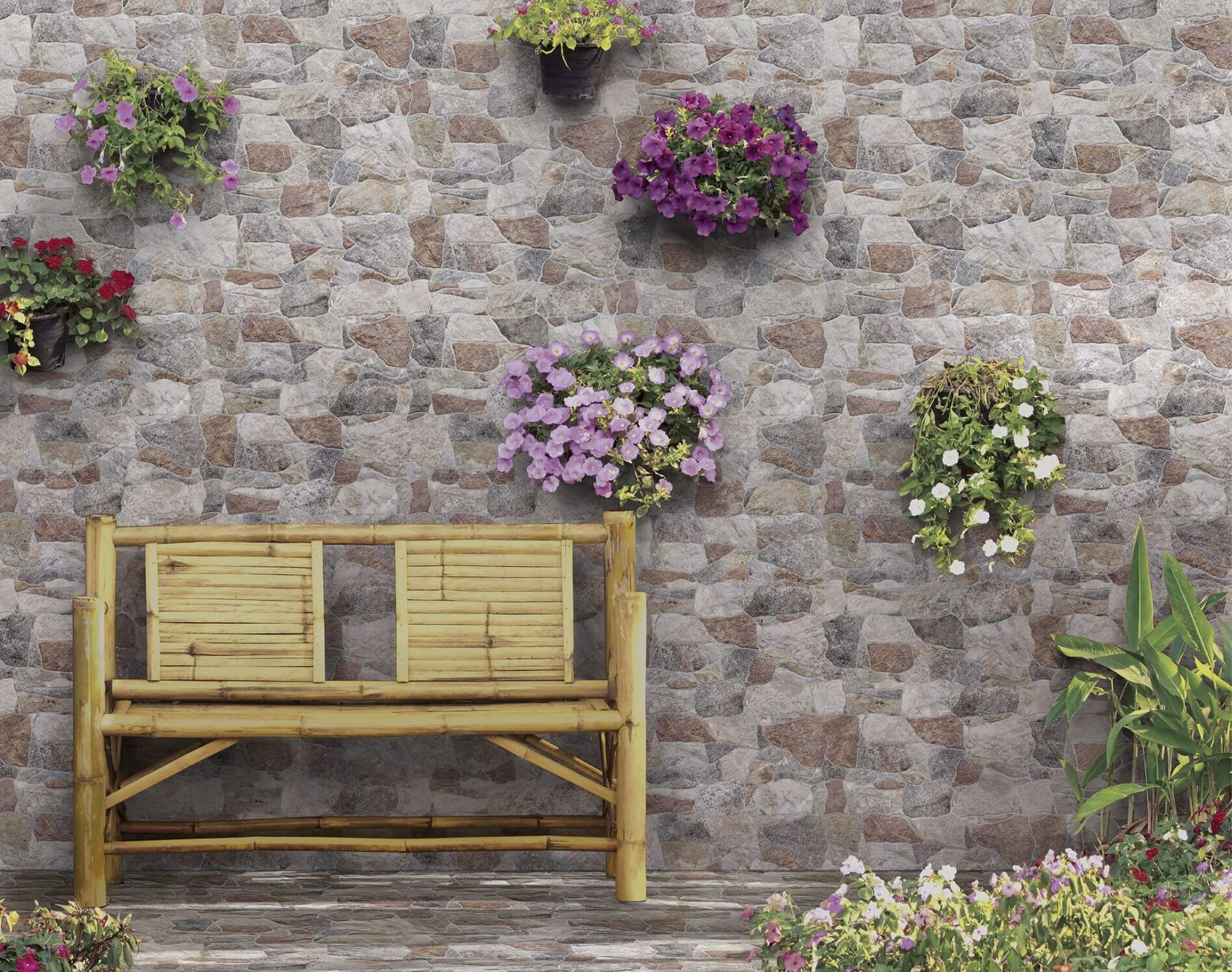 Επένδυση εξωτερικού χώρου με πλακάκια Belcaire