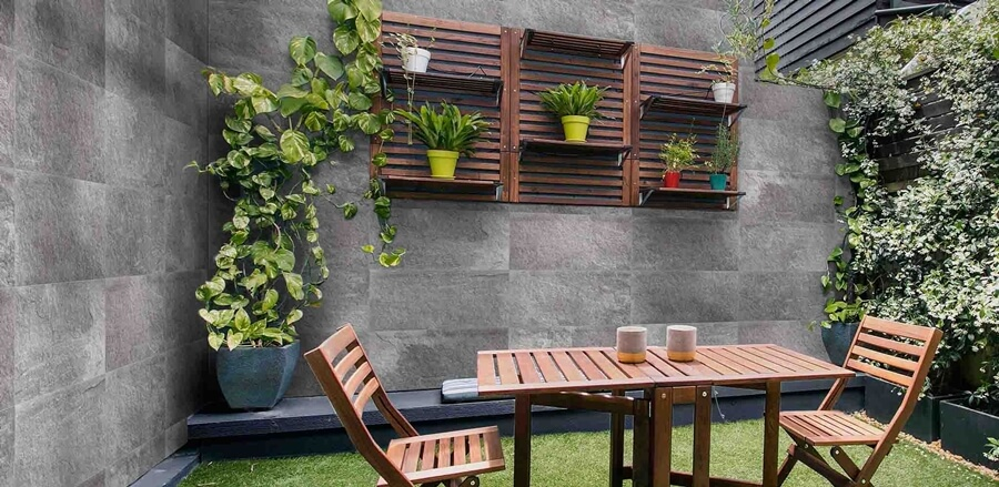 Επένδυση εξωτερικού χώρου με πλακάκια Fuentede