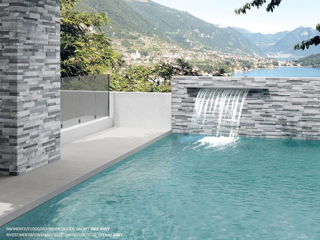 Επένδυση εξωτερικού χώρου με πλακάκια Tiffany